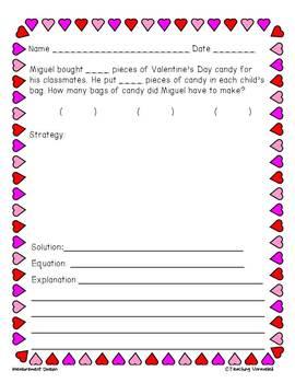 CGI Word Problems - Valentine's Day