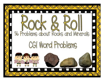 CGI Word Problems about Rocks and Minerals