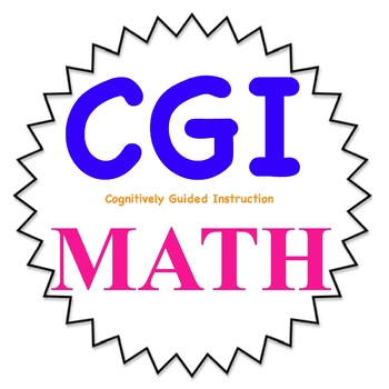 CGI math word problems for 4th grade-- 1st set-  Common Core friendly