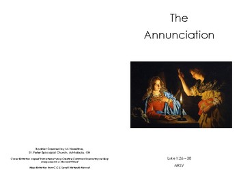 CGS Annunciation White Scripture Booklet - Episcopal