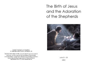 CGS Birth and Adoration White Scripture Booklet - Episcopal