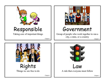 CH 1 My Community My Country Vocab Cards Grade 2