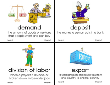 Chapter 3 Working in Our Communities Vocab - Grade 3