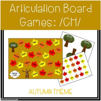 /CH/ Articulation Board Games - Fall Theme