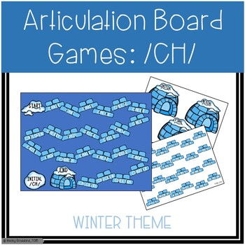 /CH/ Articulation Board Games - Winter Theme