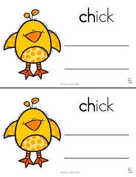 CH Book- Beginning Digraph Phonics Book- Color and Black & White Copy