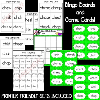 CH- Beginning Digraph [[Word Family GAMES!]]