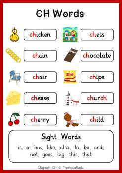 CH DIAGRAPH Reader & Worksheets & Flashcards: Charles the Chicken
