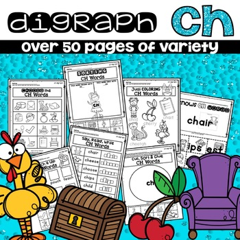 CH DIGRAPH WORKSHEETS PRACTICE