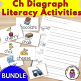 CH Digraph Activities, worksheets and literacy center fun