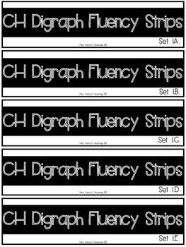 CH Digraph Fluency Strips