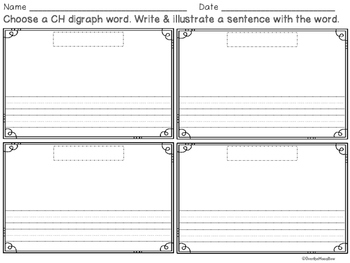 CH Digraph Mini-File Folder Word Wall Activity Pack