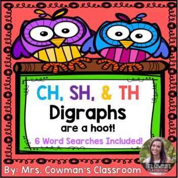 CH, SH & TH Digraph Word Searches