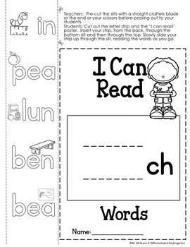 CH Digraph Word Work Galore-Differentiated and Aligned