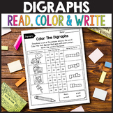 CH Digraph Worksheets, TH Digraph Worksheets - Read, Color, Write