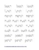 CH- Ending Digraph Tracing Sheets