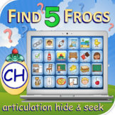 CH Find 5 Frogs - Articulation Activity - Teletherapy - Di