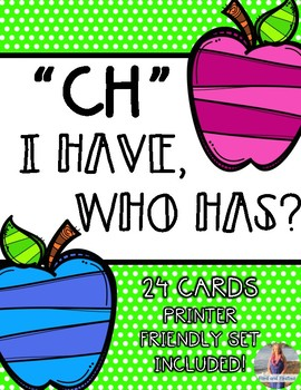 "CH Digraph ""I Have, Who Has"" *FREEBIE*"