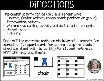 CH Literacy Center Activity