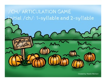 /CH/ Pumpkin Articulation Game