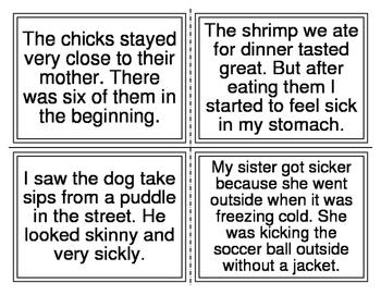 CH SH Short Vowel I Sentence Task Cards (40 sentences) (20 Cards)