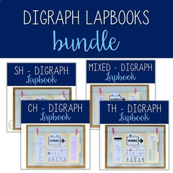 CH/SH/TH Digraph Lapbooks - Bundle