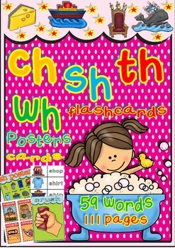 CH - SH - TH - WH Educational Resources (Mini-Posters, Flashcards, and more)