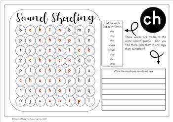 CH SH TH and WH WORD SEARCH PUZZLES EMERGENT READER