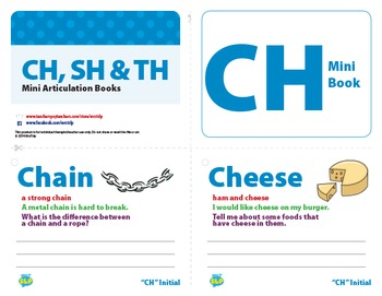 CH, SH and TH Mini Articulation Books