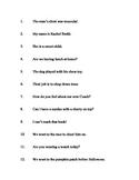 CH Sentences Across Positions