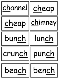 CH Sound Flashcards