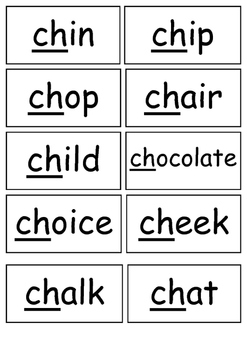 CH Sound Flashcards