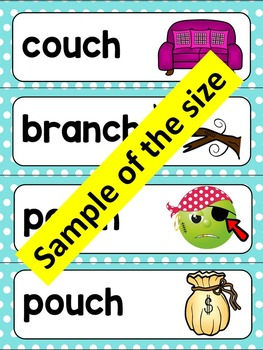 CH- WORD WALL CARDS AND POSTERS- BEGINNING AND ENDING CH WORDS
