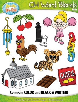 CH Word Blends Clipart Set — Includes 20 Graphics!