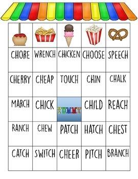 CH Words Carnival Bingo