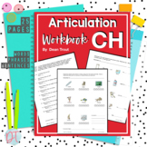 No Prep Articulation Workbook | CH Sound | Speech Therapy