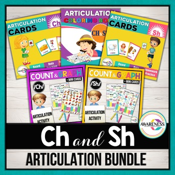 CH and Sh Articulation Activities: Bundle for Speech Therapy