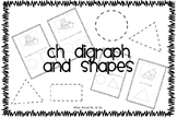 CH digraph initial Sound and Shapes (Trace and Draw)
