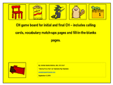 CH game board, calling cards and vocabulary activities.