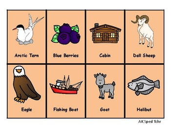Alaska ABC Cards - cards with clipart and 2 sets of alphabets