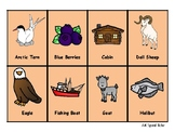 Alaska ABC cards - can be used as Memory game, Sequence game