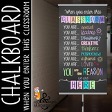 pastel CHALK - Classroom Decor: SMALL BANNER, When You Enter this Classroom