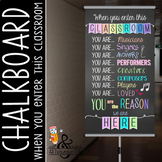 music CHALK - Classroom Decor: SMALL BANNER, When You  Ent