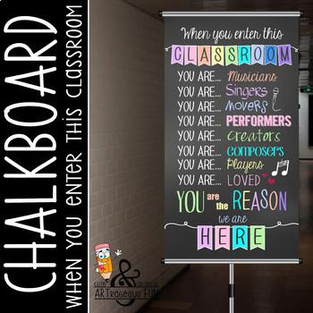 CHALK - Classroom Decor: SMALL BANNER, When you enter this