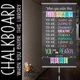 library CHALK - Classroom Decor: SMALL BANNER, When You En
