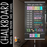 pastel CHALK - Classroom Decor: SMALL BANNER, When You Enter this School