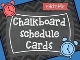 CHALK IT UP ! {EDITABLE} SCHEDULE CARDS