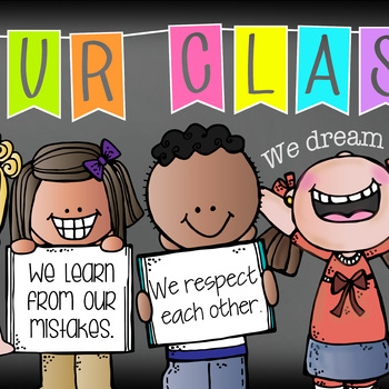 bright CHALK {melonheadz} - Classroom Decor: LARGE BANNER, In Our Class