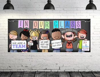 CHALK {Melonheadz} - Classroom Decor: LARGE BANNER, In Our Class - PASTEL