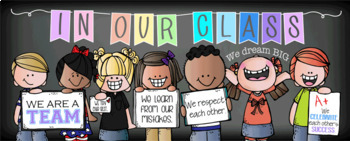 CHALK {melonheadz} - Classroom Decor: LARGE BANNER, In Our Class